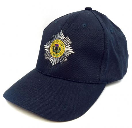 The Scots Guards - Plain burgundy Baseball Cap with the regimental cap badge.